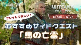 【ウィッチャー3】DLC『血塗られた美酒』 是非プレイして欲しい