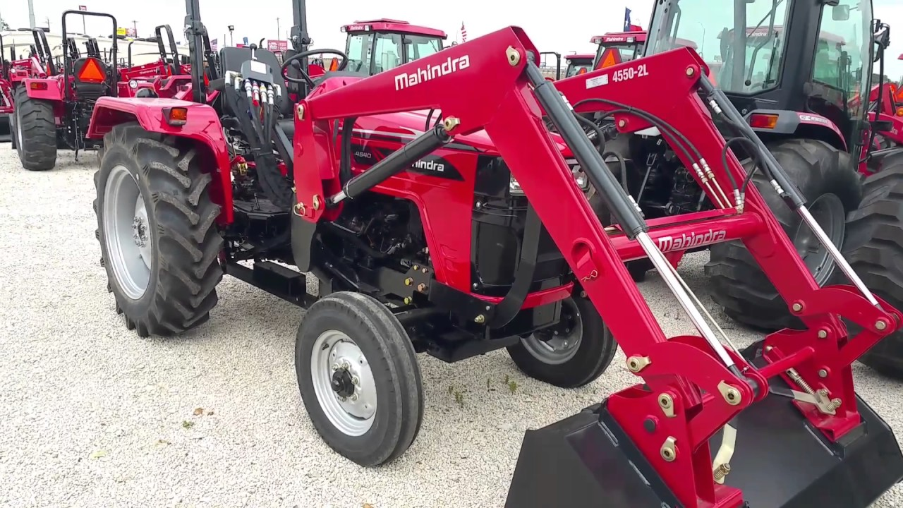 Mahindra 4540 2w/d tractor with a loader