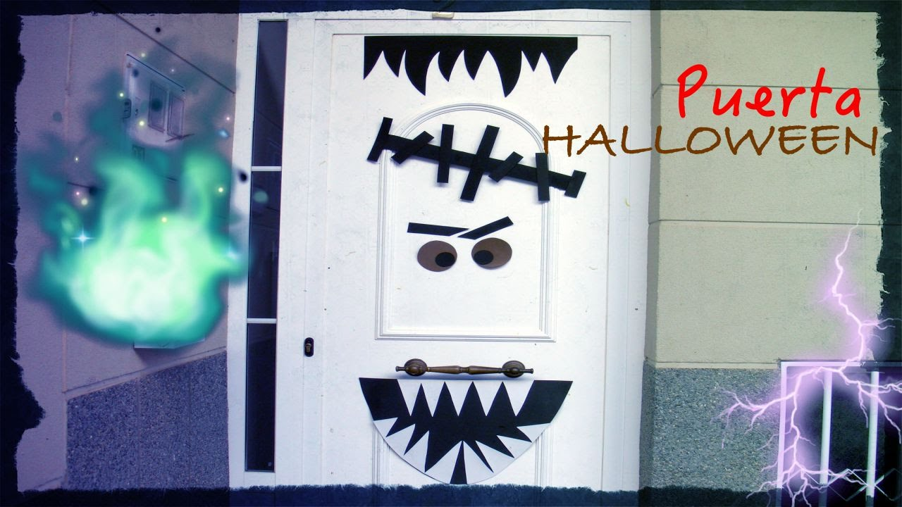 Manualidades adornar una puerta para halloween youtube for Ideas para decorar puertas
