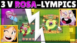 Brawl Stars OLYMPICS! | 3 Brawlers VS Rosa's Super! | Who Has the Coolest Finish?!