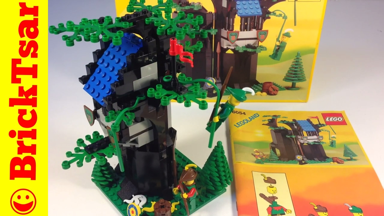 Lego Legoland Castle System 6054 Forestmens Hideout From 1988