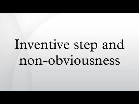Inventive step and non-obviousness