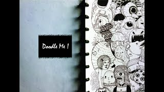 Doodle Me! (Doods Me!) FIRST DOODLE VIDEO (Doodling characters with pen)