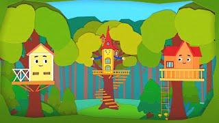 Домики- Дом на дереве - Серия 67  новый познавательный мультфильм о путешествиях для детей