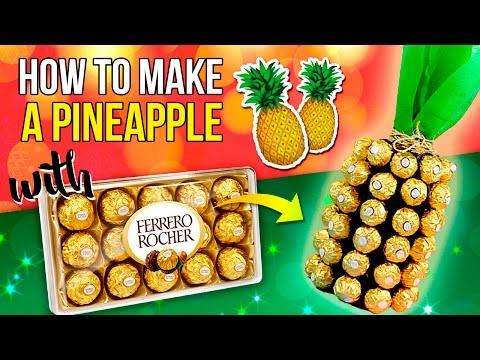 DIY Pineapple MADE of CHOCOLATE and WINE * EASY Christmas DECOR