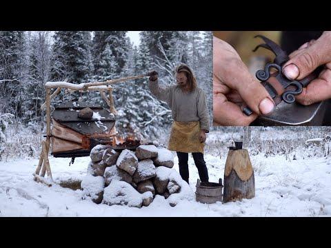 Viking Making Leather Belt - Blacksmithing