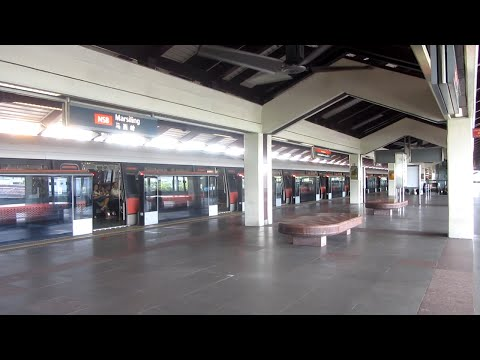 SMRT North South Line -- Off-Peak Trains at NS8 Marsiling on 11 November 2015