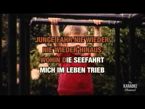 """Junge, Komm' Bald Wieder in the Style of """"Freddy Quinn"""" with lyrics (no lead vocal)"""