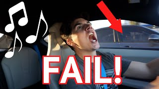 SINGING IN THE CAR FAIL!