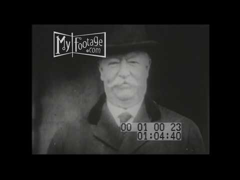 1930 President William H Taft as Chief Justice of the Supreme Court Stock Footage in HD