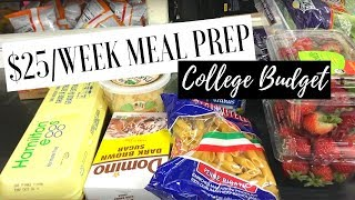$25 Weekly Meal Prep | College Budget