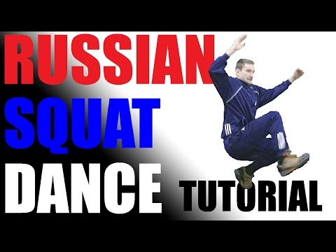 Russian Squat Dance Tutorial #1 (RU/EN Subtitiles)