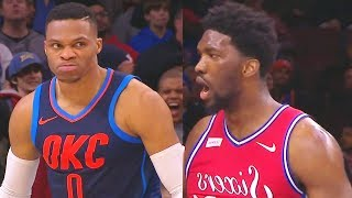 Russell Westbrook SHUTS UP TRASH TALKING JOEL EMBIID & WAVES HIM GOODBYE!!!