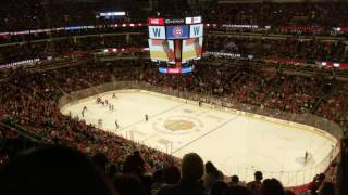 Chicago Cubs at Blackhawks - Go Cubs Go - the day after 2016 World Series Win Fly The W