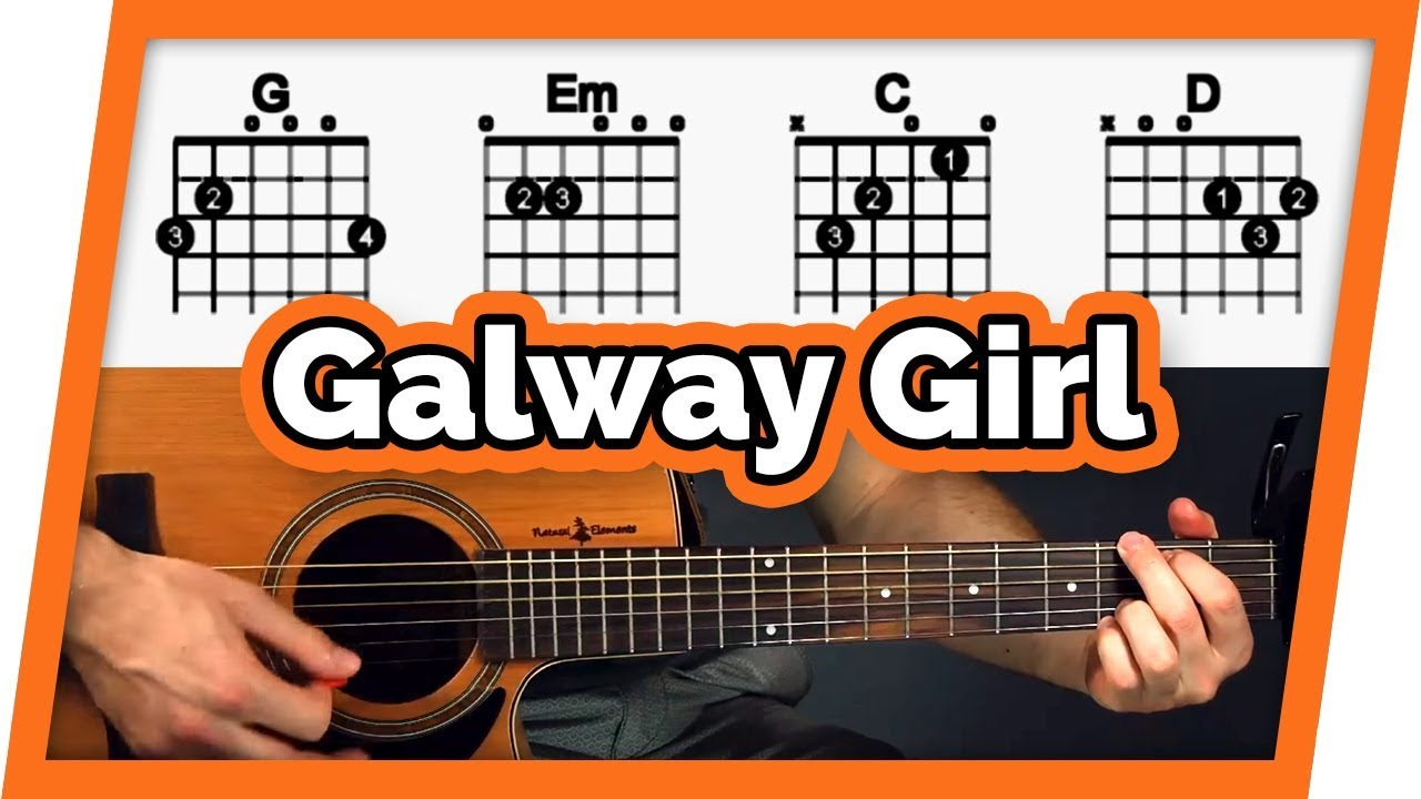 Galway Girl Guitar Tutorial Lesson Easy Chords For Beginners