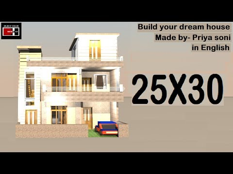 25X30 house plan in English made by priya soni on build your dream house