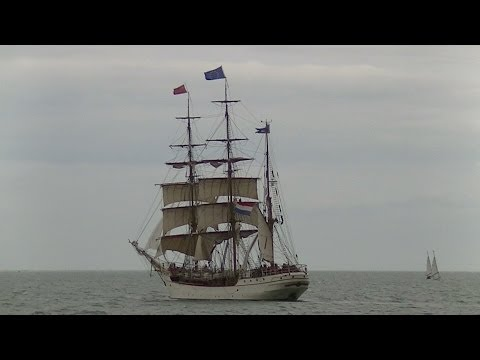 Tall Ships Race 2014 July 6 Sail Out Parade Harlingen.