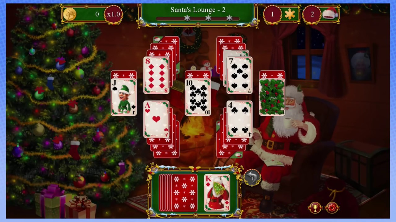 Santa's Christmas Solitaire: First Time Snow - PART 1 - Steam Train MhJones  Timothy