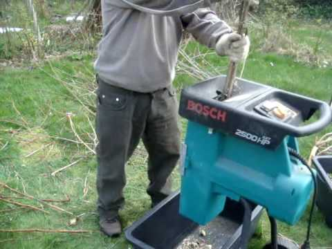 Garden Shredder Bosch 2500HP ATX YouTube