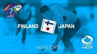 HIGHLIGHTS: Finland v Japan - World Mixed Doubles Curling Championship 2018