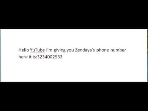 Zendaya Real Phone Number zendaya's phone number...