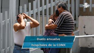 """A las puertas del hospital Hospital General de Zona 1-A """"Dr. Rodolfo Antonio de Mucha Macías"""", conocido como el hospital de """"Venados"""", en la Ciudad de México, hay  gritos que impactan. La tranquilidad que hace unos meses se vivió en este lugar, cuando la pandemia de Covid-19 había dado un respiro a la sociedad,  se rompe con nuevos fallecimientos"""