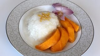 Sweet Sticky Rice With Mango And Coconut Sauce