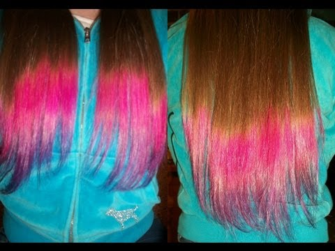 Diy dip dyeombre hair two colors youtube diy dip dyeombre hair two colors solutioingenieria
