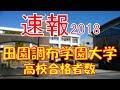 【速報】田園調布学園大学 2018年(平成30年) 合格者数高校別ランキング