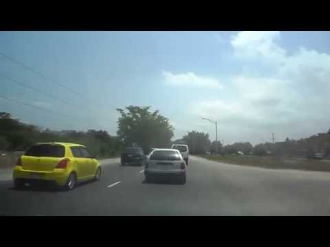Driving in Jamaica - Washington Boulevard To St. Ann Via Mount Rosser And The New Highway