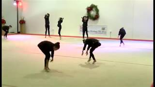 Burlo Gymnastics, Summer Show 2017, Girls in Black (men in Black), Level 6