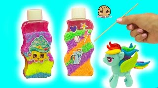 Shopkins Cupcake Queen + MLP Rainbow Dash Inspired Glow In The Dark Sand Art Fun Craft Set