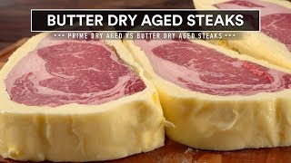 Sous Vide BUTTER DRY AGE Steaks vs Real DRY AGE!