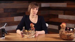 «Ручная работа». Курочка-вазочка из папье-маше (15.04.2015)