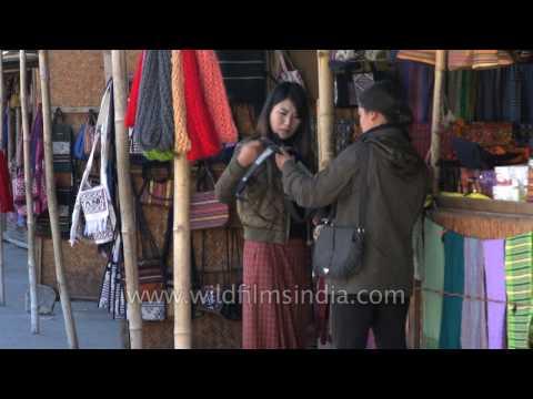 Thimphu market and ABC bazaar in Bhutan - handicraft bargains in a clean shopping environment