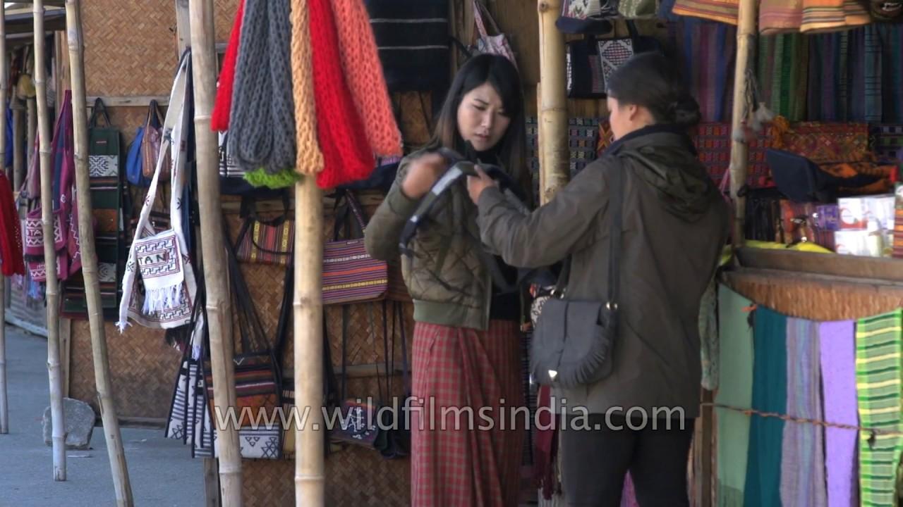 Thimphu Market And Abc Bazaar In Bhutan Handicraft Bargains In A