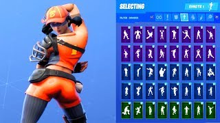 FASTBALL SKIN SHOWCASE WITH ALL FORTNITE DANCES & EMOTES