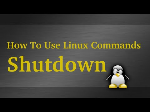 How To Use The Linux Shutdown Command