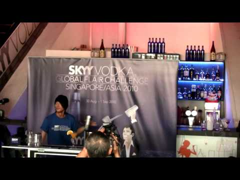 SKYY Vodka Global Flair Challenge 2010 SEA Finals - Singapore 3rd Runner Up