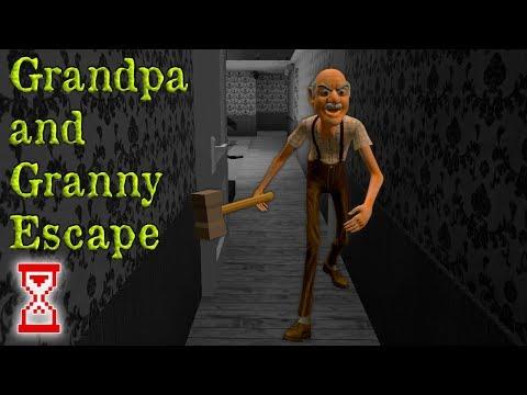 Первая встреча с безумной Бабкой и Дедом | Grandpa and Granny Escape House