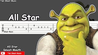 Download lagu Smash Mouth - All Star (Shrek Theme) Guitar Tutorial