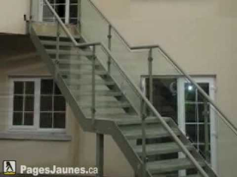 fabrication rampe escalier d 39 aluminium prestige inc mont youtube. Black Bedroom Furniture Sets. Home Design Ideas