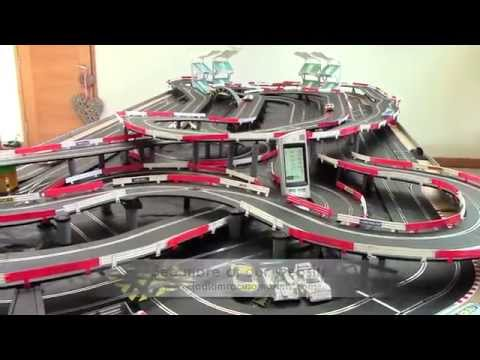 Scalextric Digital Set SL201! Massive 6 Car Slot car Track Jadlam Racing