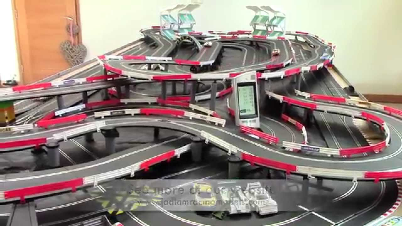 F1 track racing slot car set micromania geant casino albertville