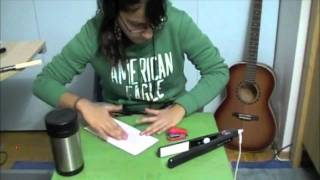 "Like A G6-Far East Movement (""Drum"" Cover; stapler, thermos, sticks, table & envelope)- Sarah T"