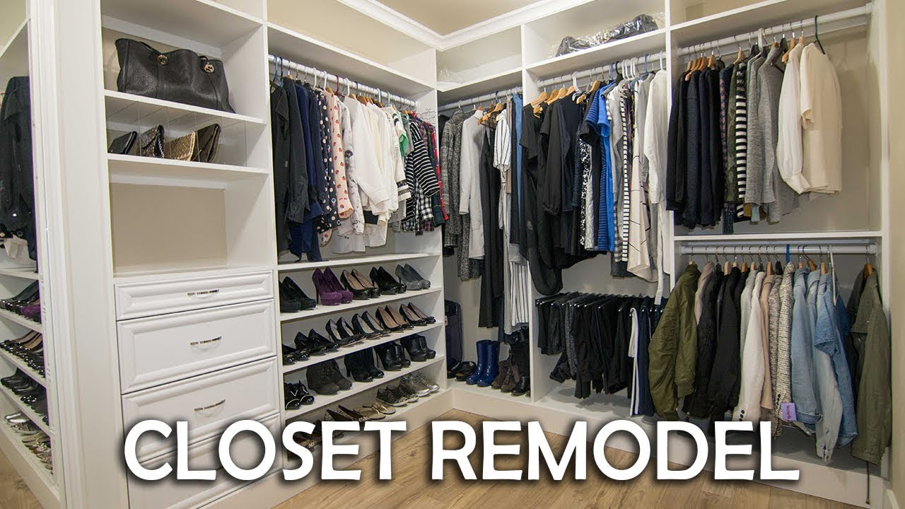 Walk In Closet Remodel DIY - YouTube
