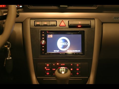 How to remove and install a dvd double din nav radio in a for Mueble 2 din audi a4