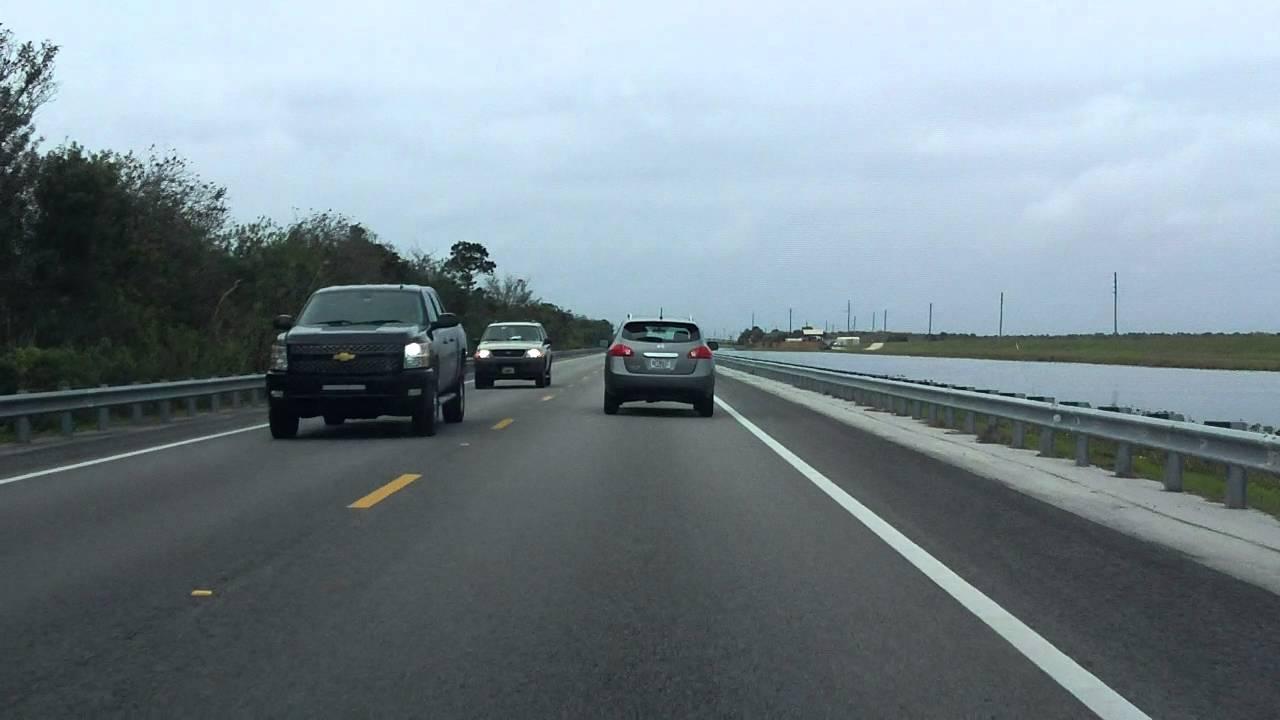 Tamiami Trail (US 41 from Miami to Naples) westbound (Part 1/9)