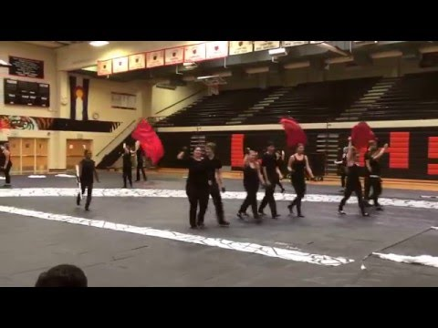 Eaglecrest High School Winter Guard 2016 - performance at Lakewood high school