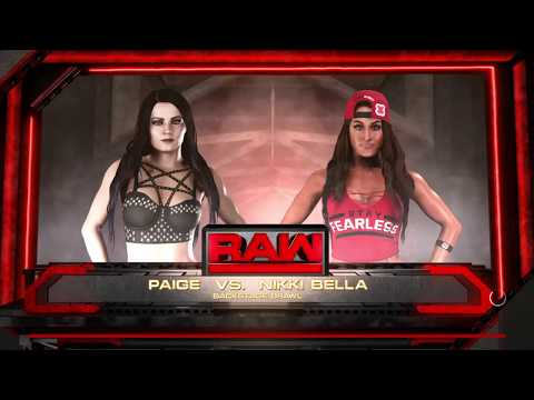 WWE 2K18 Ryona リョナ Match 1of 2 Page Tosses Nikki Bella Around The Girls Locker Room Backstage
